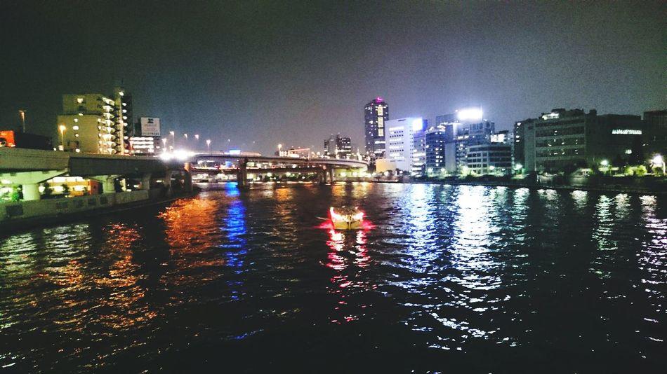 River Night Photography Boat City Urban