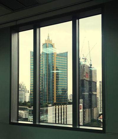 window Architecture Built Structure Skyscraper Window Building Exterior City Sky Cityscape Ofice Bangkok Thailand