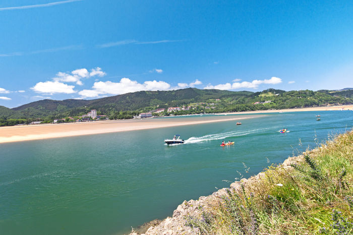 Estuary view Life Is A Beach Hidden Gems  Enjoying Life Outdoors Beauty In Nature Blue Sky And Clouds Summer Time  Seascape Photography Urdaibai Vizcaya Spain Estuary View The Color Of Sport