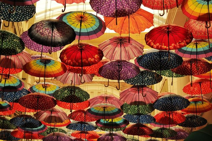 Dubai Mall Umbrellas Display Colorful Eos 550d Canonphotography Canon Canon550D