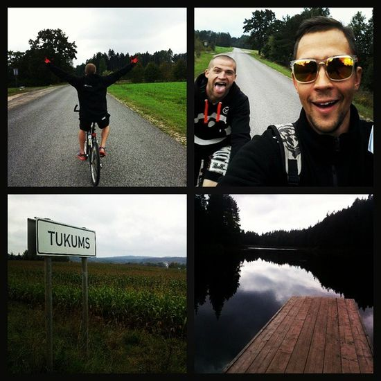 Away from city! Freedom on bicycle... Tukums 74km on road. Day1