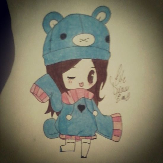 Drawanime Drawing Anime Animecute animegirl kawaii animechibi