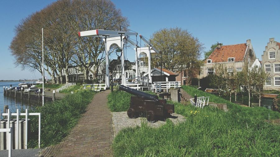 Beautiful City Cityscape River Lek Old Cannon Drawbridge  Tourist Attraction  Check This Out