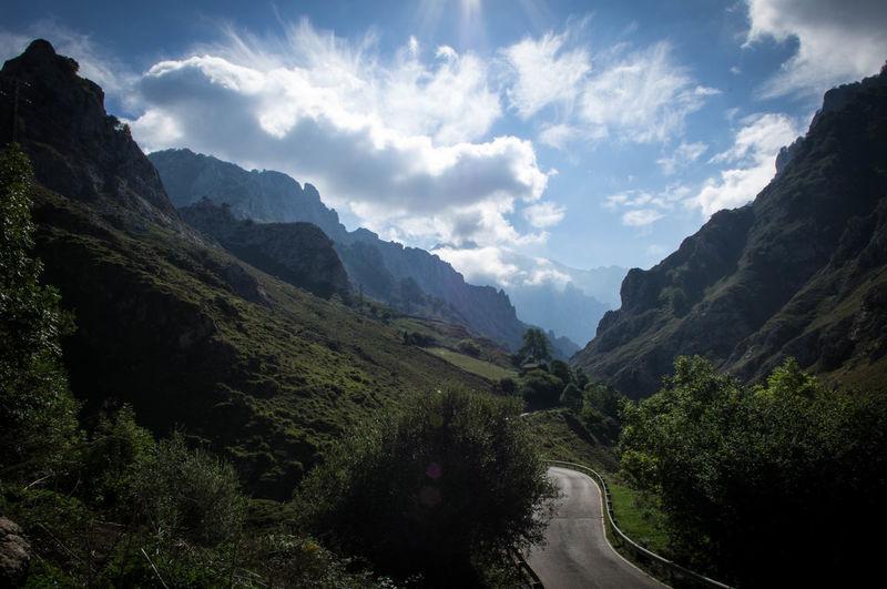 Beauty In Nature Day Landscape Mountain Mountain Range Nature No People Outdoors Picos De Europa Scenics Sky Tree