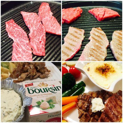 ブルサンが当たった!ので、お家焼肉で使ってみました。一番のヒットは、野菜用のディップのレシピでした!^^ Food Dinner BBQ Hot Plate
