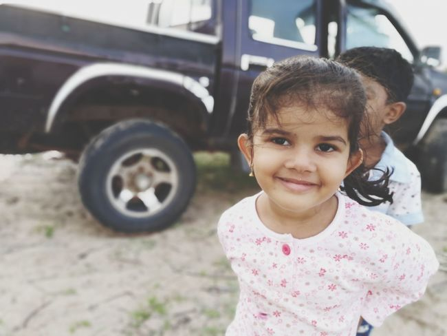 EyeEm Selects Portrait Child Smiling Childhood Looking At Camera Girls Cheerful Happiness Close-up Sky