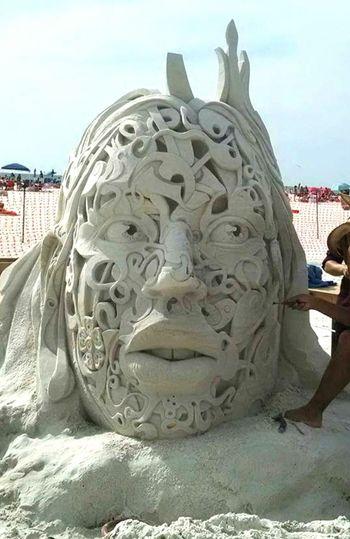 Siesta Key Sand Sculpture Sand Check This Out Sarasota Florida Floridalife Love ♥ Walking The Beach Beachphotography Sandcastles Art Artistic Amazing Taking Photos Beach Life Beach Sculptures By The Sea Awesome Cool Golden Hands SarasotaFl