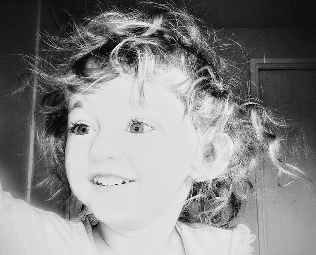 Baby curls and sparkly eyes ❤️ Childhood Portrait Headshot Innocence Blond Hair Toddler  Curls Curly Hair Blackandwhite Daughter Babygirl Scarlett Love Growing Up Person