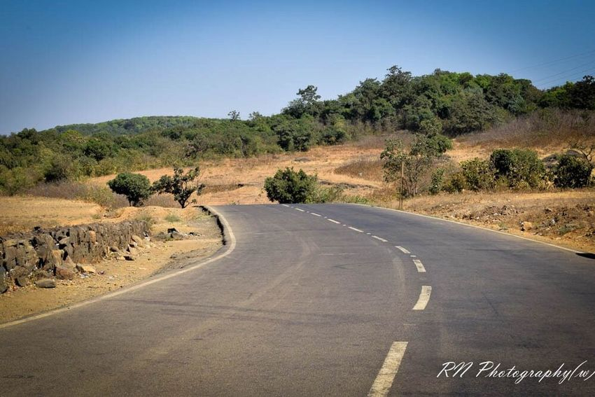 Road Landscape Clear Sky Blue Tree Nature Scenics Outdoors No People Day Sky Shotonnikond5300 Rattyperspective