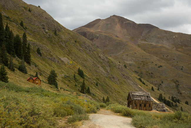 Sep 2018 - Animas Forks, CO Beauty In Nature Cloud - Sky Day Environment Ghost Town Landscape Mining Camp Mountain Mountain Range Nature Non-urban Scene Outdoors Plant Scenics - Nature Sky Tranquil Scene Tranquility