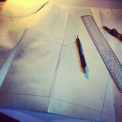 Drafting the pattern.