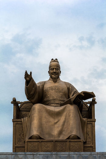 Sejong the Great Art And Craft City Honor Human Representation Joseon King King Sejong King Sejong The Great Real People Sculpture Seoul Soldier South Korea Statue Statue War