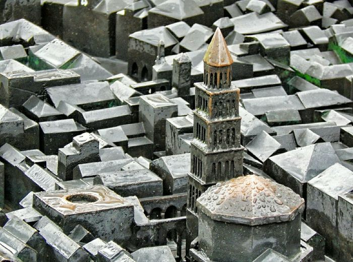 High angle view of city model