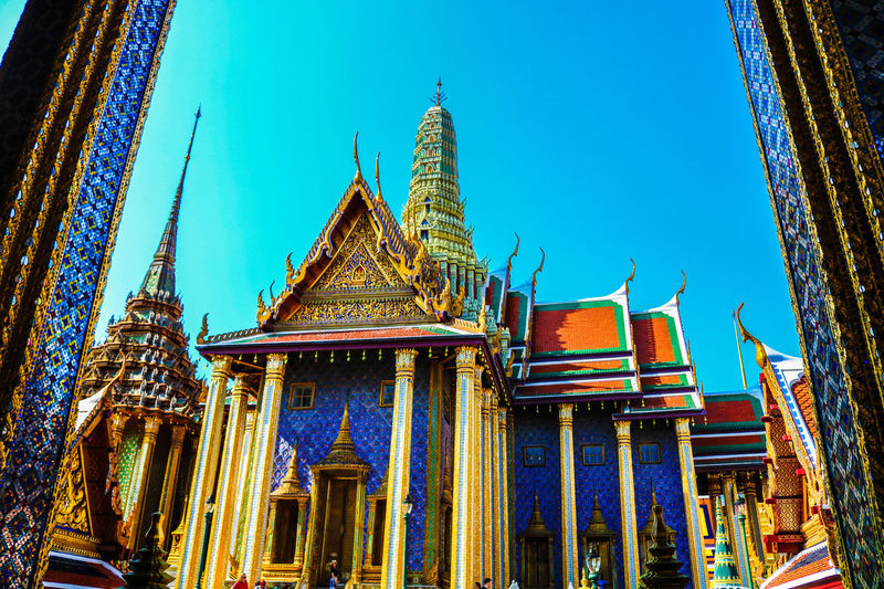 Grand Palace #palace #Bangkok #Thailand City Place Of Worship Religion Blue Sky Architecture