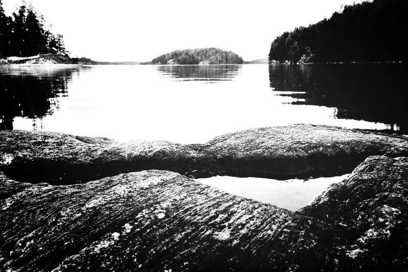 rocks. Rocks Lake View Reflection Blackandwhite Photography