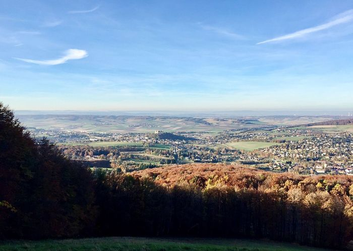 Ausblick vom Kohlreithberg 🙌 Wienerwald  Colours Of Nature Autumn Forest Trees And Nature Trees And Sky Trees Landscape Tranquil Scene Scenics Nature Tranquility Sky Beauty In Nature Outdoors Day Agriculture Field Cloud - Sky Patchwork Landscape Rural Scene