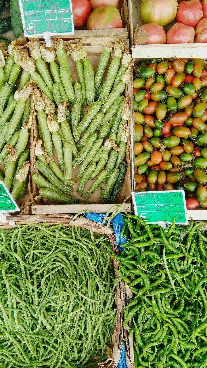 High Angle View Of Vegetables On Display