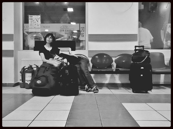 Waiting...and waiting Street Photography Bw Photography People Starting A Trip