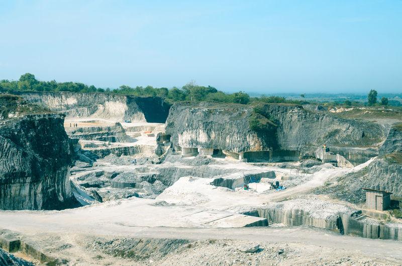 Jaddih limestone mine, bangkalan, madura island, east java, indonesia