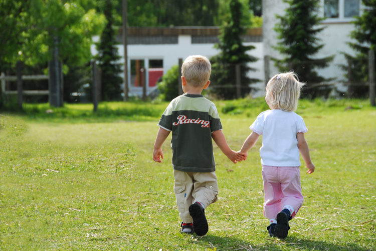 First Love Child Childhood Boys Two People Men Males  Grass Family Full Length Plant Real People Togetherness Casual Clothing Bonding Day Nature Lifestyles Emotion Leisure Activity Outdoors Positive Emotion Innocence