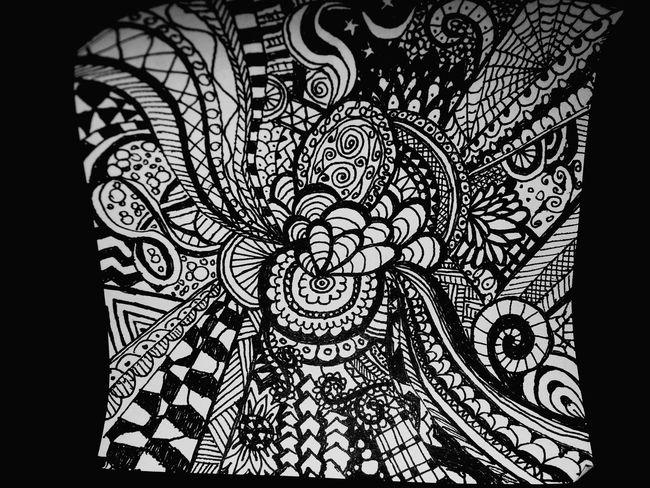 Sharpie Doodle Doodling Doodles Doodleart Doodle Art Doodlings Sharpie Art Black And White Black & White