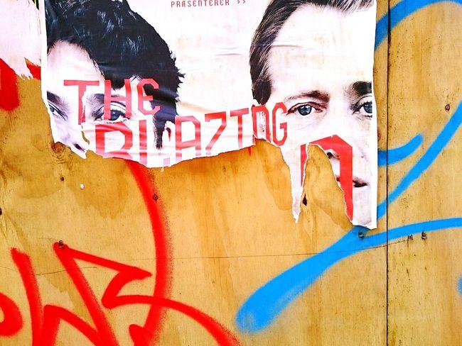 Tornposter Eyes Urban Landscape Aerosol Graffiti Textures And Surfaces Copenhagen