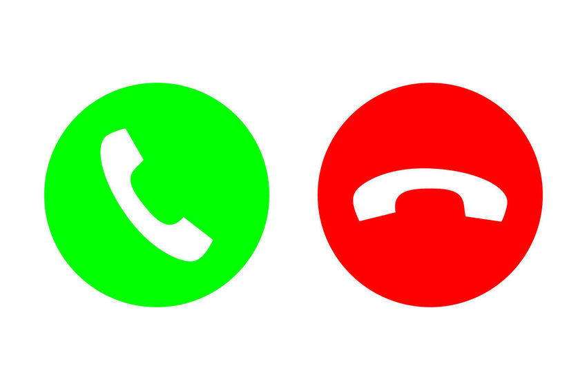 Phone call flat icon set with green call out or answer button and red hang up or decline button. Design for website, mobile app. Chat Button Cellphone Graphic Green Icon Logo Red Set Sign Answer Call Connection Contact Delineado Device Handset Internet Mobile Online  Phone Receiver Smartphone Talk Telephone