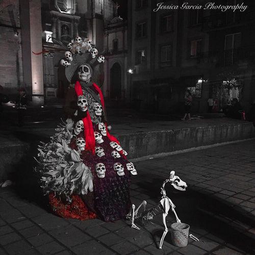 La Catrina and her loyal dog Oaxaca México  Dayofthedead Lacatrina Followme Blackandwhite Ips Showcase: January Jessicagarciasphotography