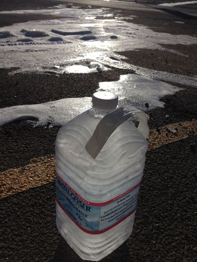 Don't leave your drinking water in the car during the night in Montana By Cathy Badi