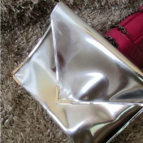 Silver Hologram Clutch FashionistaProblems Shedidthat AccessoriesJunkie