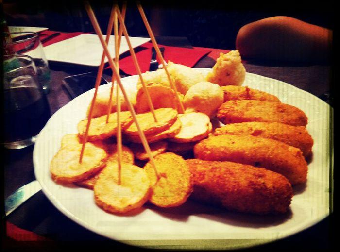 Food Porn Love Cibo Tasty crocchè e patatine!