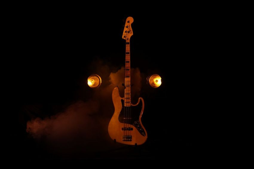 Adult Arts Culture And Entertainment Bass Guitar Bass Instrument Black Background Electric Guitar Fog Guitar Guitarist Illuminated Jazz Music Music Musical Instrument Musical Instrument String Musician Night One Man Only Only Men People Performance Performing Arts Event Rock Music String Instrument Studio Shot Young Adult EyeEmNewHere