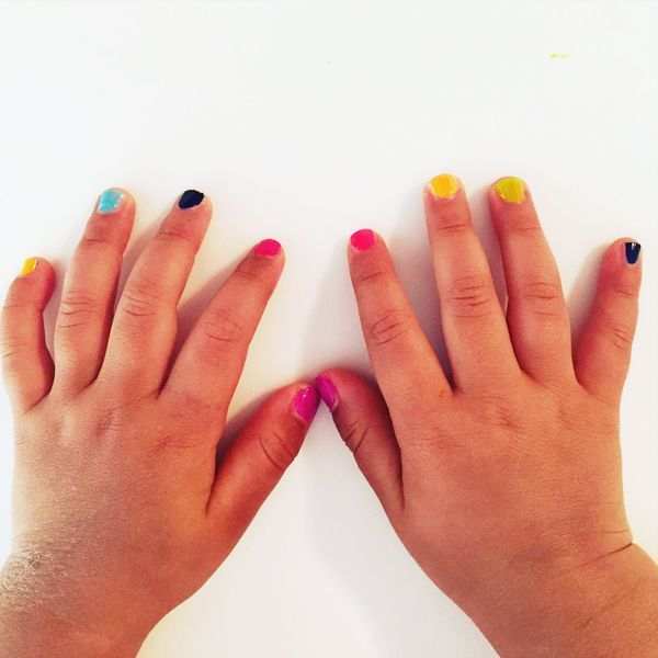 Baby Girl First Eyeem Photo Baby Nails Colorful Tiny Fingers