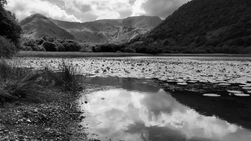 Brothers Water Lake District Black And White Lake District Tranquil Scene Sky Nature Environment Cloud - Sky Landscape No People Day Lake Non-urban Scene Plant Land Outdoors