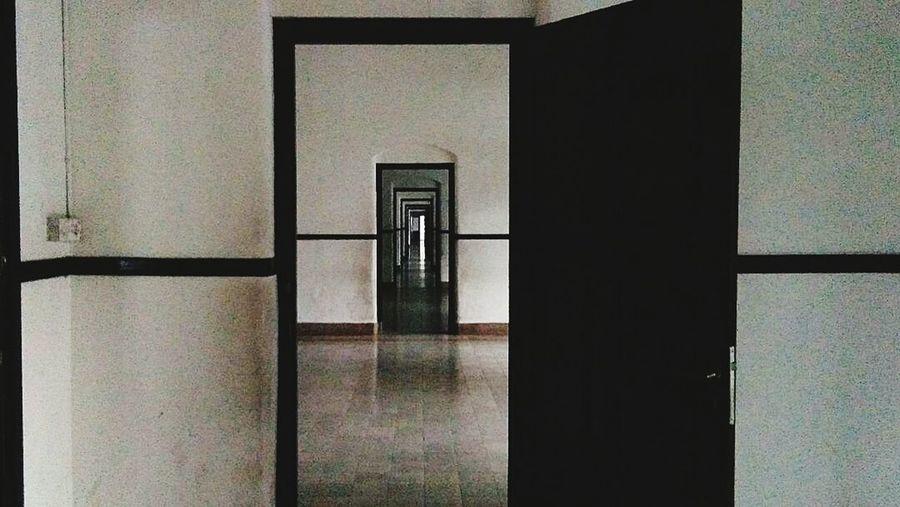 Hello? Anybody there? Horror Photography Creepy Creepypasta Creepy Places Door Indoors  No People Doorway Architecture First Eyeem Photo