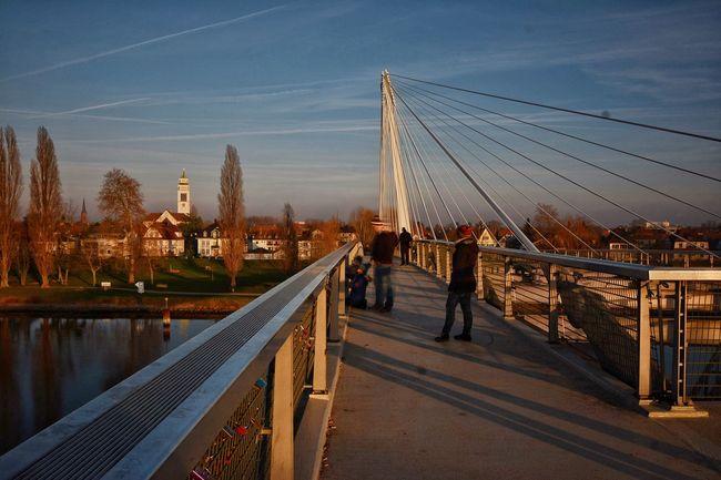 Strasbourg France Kehl Allemagne Pont