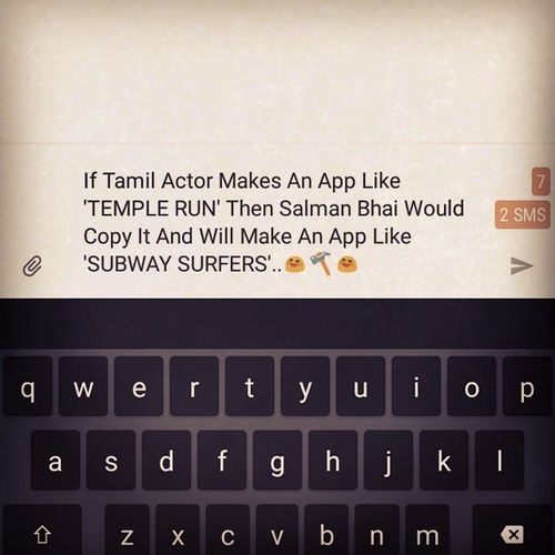 Actors Tamil Salmankhan Playing Games SubwaySurfers  Templerun Bollywood Instamood Instabollywood Trolling Appstore