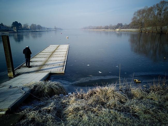 Water Nature Lake Tranquility Beauty In Nature Tranquil Scene Outdoors Scenics Sky Day Nautical Vessel No People Frozen Nature Frozen Lake no boat !