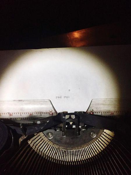 Red rum Red Rum... Red Rum... Red Rum... Murder Typewriter Ghost Hunting Asylum