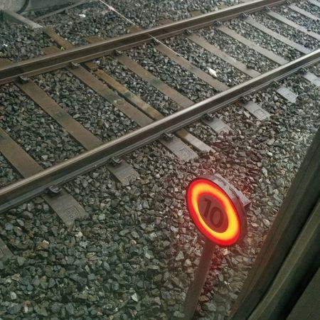 stop Railroad Track High Angle View Rail Transportation Railroad Signals