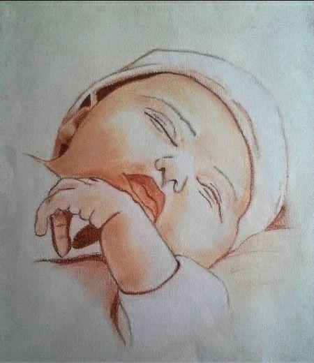 Bébé au Pastel sec