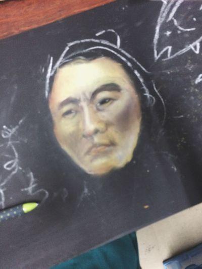チョークアートもやってるヨ Chalk Art Illustration チョークアート 坂本龍馬