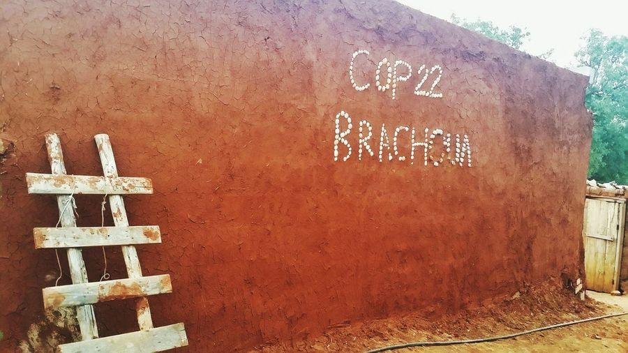 COP 22 Maroc Wall Construction Pise Brachoua