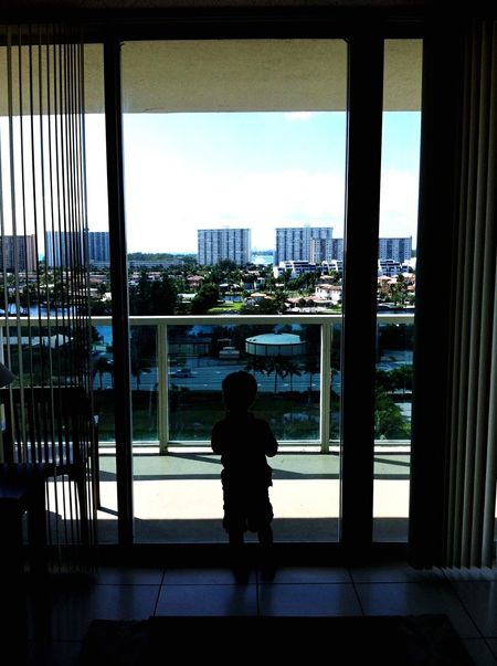 At The Window View Miami Silhouette Shadow Kidsphotography People Watching Traveling Moments Capture The Moment