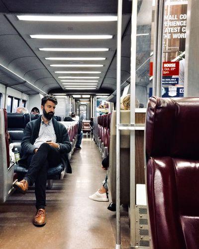 Comute. New York City New York Passenger ShotOnIphone EyeEm Best Shots EyeEm Gallery EyeEm Selects EyeEm Train Interior Traveling Travel Train Transportation On The Train Real People Public Transportation