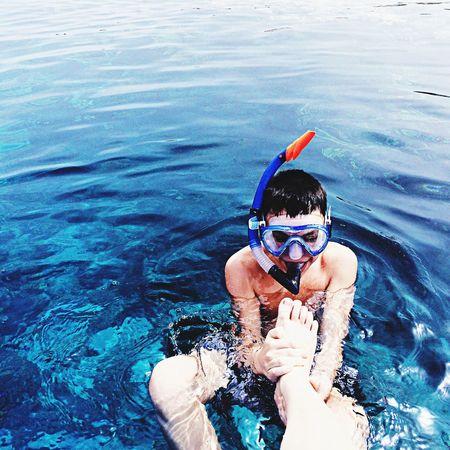 Sea Travel Swimming Boy May 2014