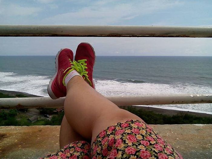Laying down at the top of lighthouse. I'm grateful hv a strong legs that can climbs a vertical upstairs to reach this place. Thanks God! Legs Beautiful Strong Climbs Lighthouse Pandansaribeach Traveling Instatravelling Picoftheday Picture Beachlife Beach Explorejogja Refreshed Enjoyinglife  Eatwelltraveloften January2016