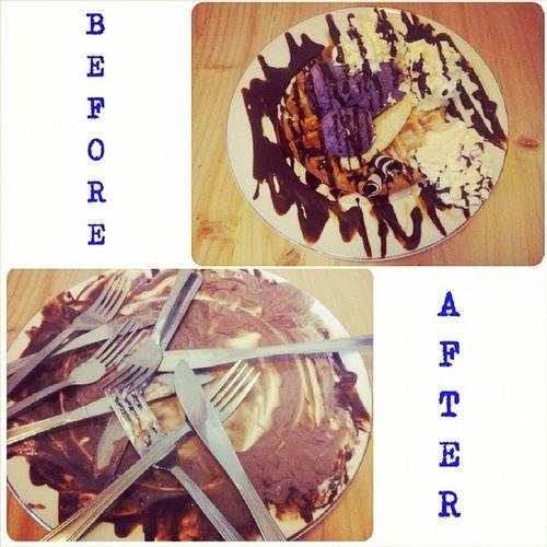 Banana Split Ice Cream Waffle Gentlemencafe