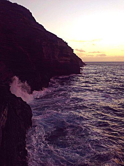 Sunrise Ocean Sea Water Sky Clouds And Sky