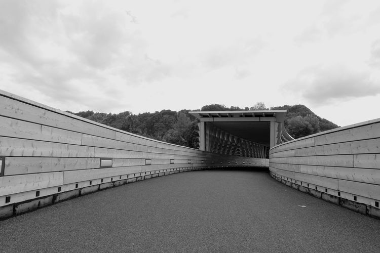 Architecture Way To Go Home Bridge In Focus Connection Rolling Architecture Outdoors Built Structure New 2017 For Bicycles For Walking Wood - Material Nature The Way Forward Architecture_collection Black Blackandwhite Black&white Kanton Bern HJB Day Brücken
